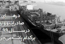 تصویر از درهای صادرات و واردات در سال ۹۹ برکدام پاشنه میچرخد