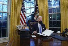 تصویر از پس از ورود به کاخ سفید؛ بایدن نخستین دستورات اجرایی خود را امضا کرد