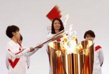تصویر از مشعل المپیک توکیو روشن شد