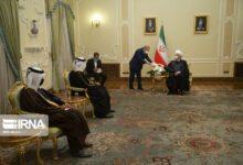 تصویر از روحانی در پاسخ به نامه امیر قطر؛گفتوگوی جمعی و منطقه قوی بر مبنای تفاهم و همکاری هدف تهران-دوحه است