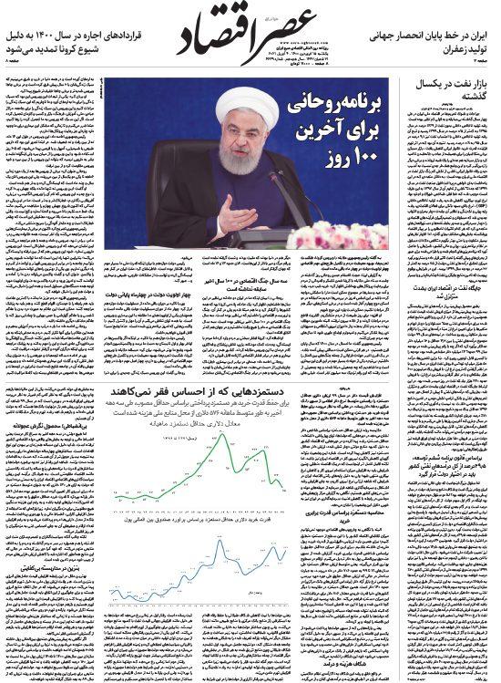 نسخه الکترونیک روزنامه 15 فروردین ماه 1400
